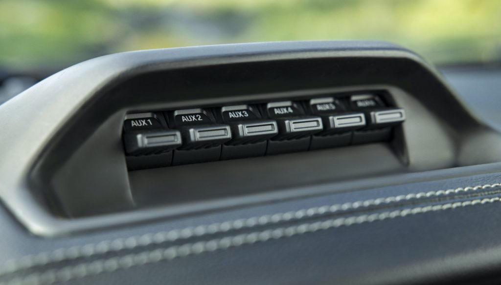 2021 Ford Ranger Tremor Auxiliary switches