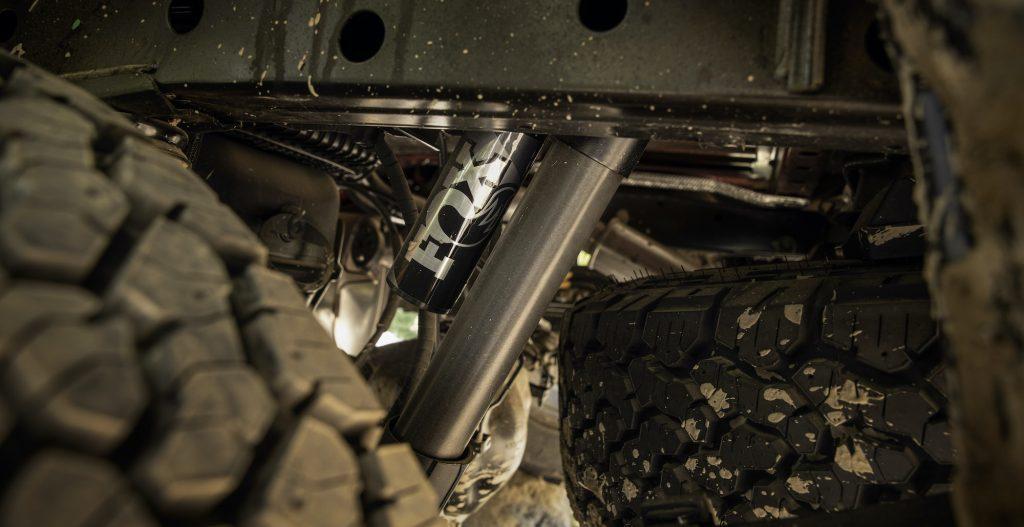 a shot of the ranger tremor's suspension