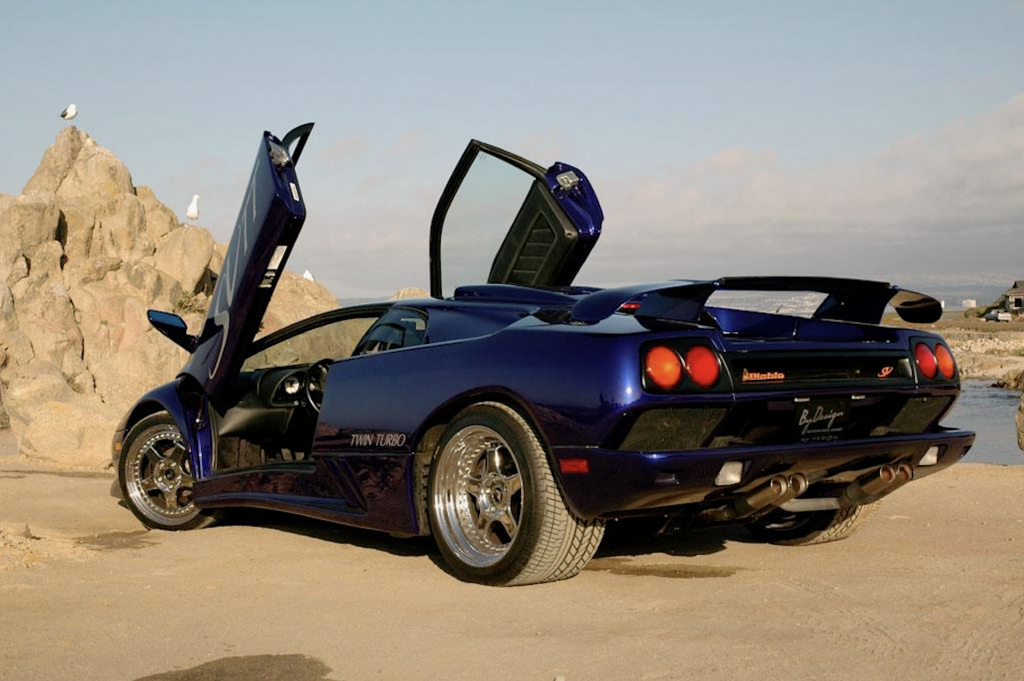 An image of a Lamborghini Diablo SV parked outdoors.