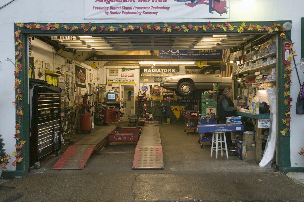 A small gas station auto shop