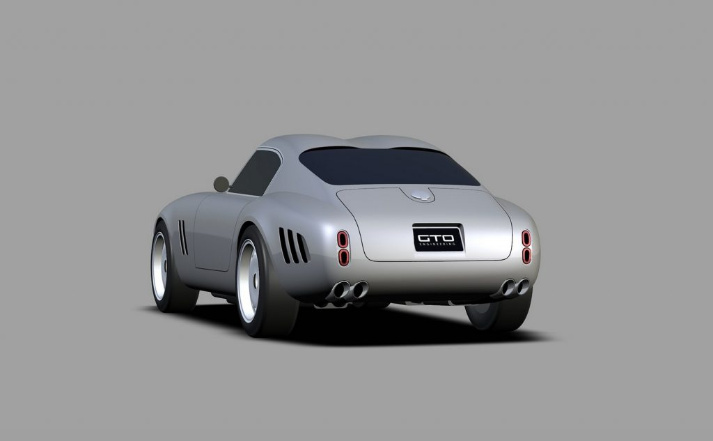 GTO Engineering Project Moderna rear 3/4 view