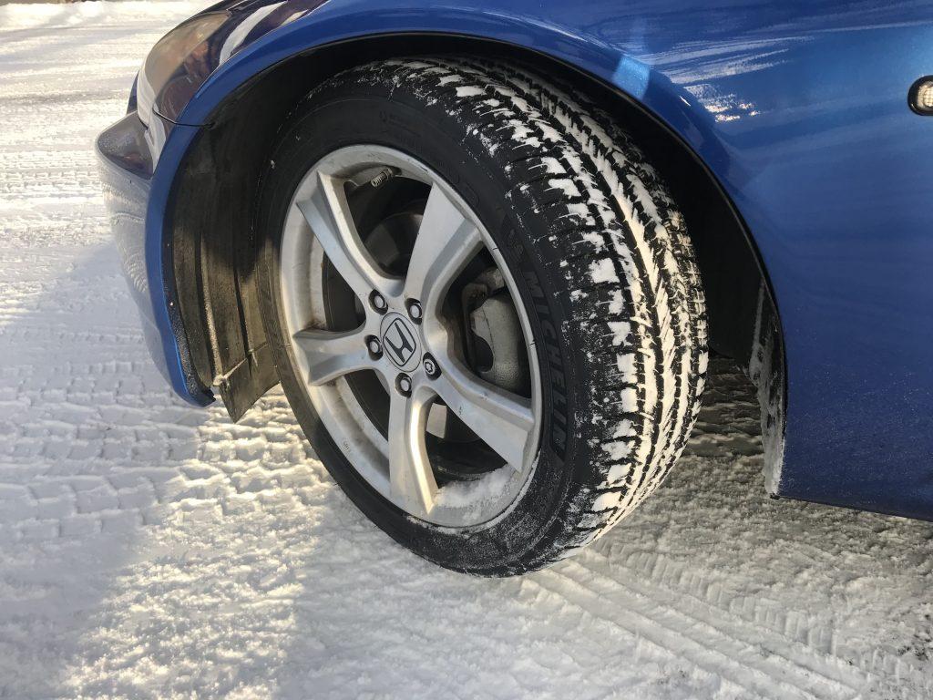 Michelin Pilot Sport All Season tires on a Honda S2000