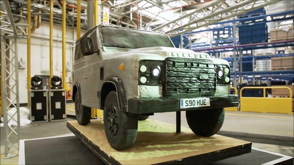 Massive Land Rover Defender replica cake