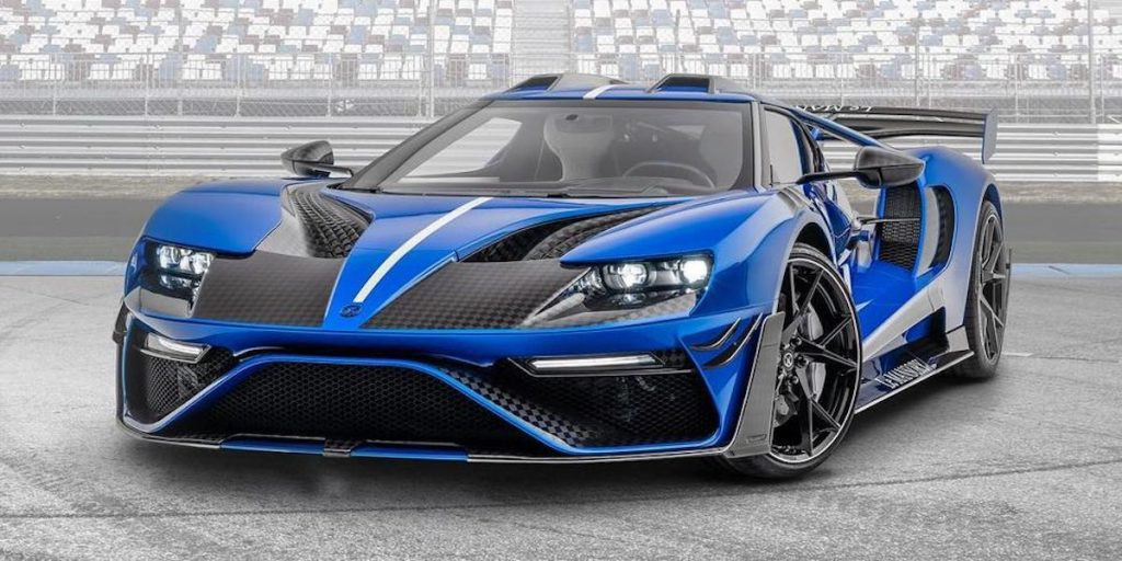 Le Mansory Custom Ford GT40 finished in blue and carbon fiber