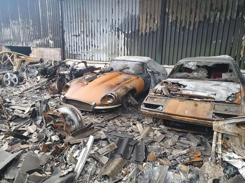 An image of a destroyed car collection.