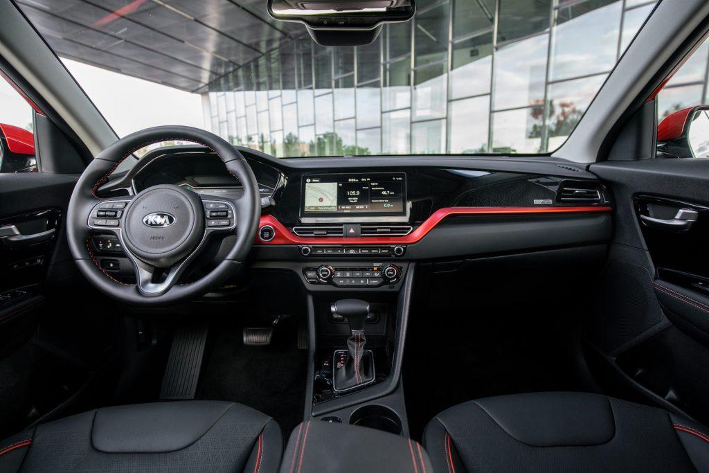 The interior of the 2021 Kia Niro.