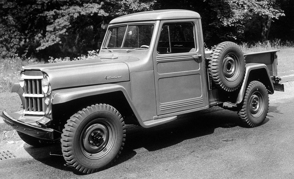 A Classic 1954 Willys-Overland Jeep 4x4 Truck
