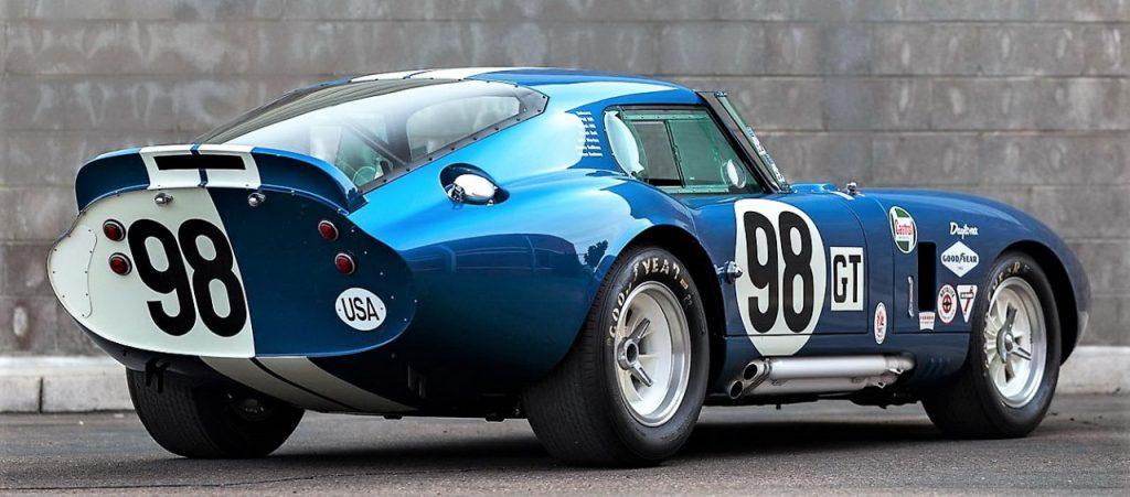 1965 Shelby Daytona coupe rear 3/4 view