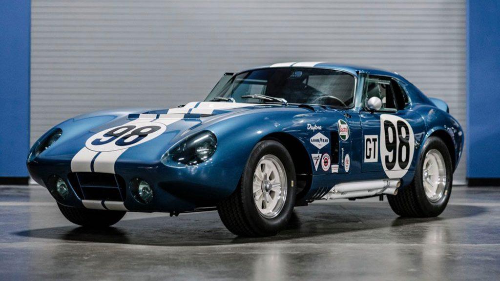 Blue 1965 Shelby Daytona Cobra coupe