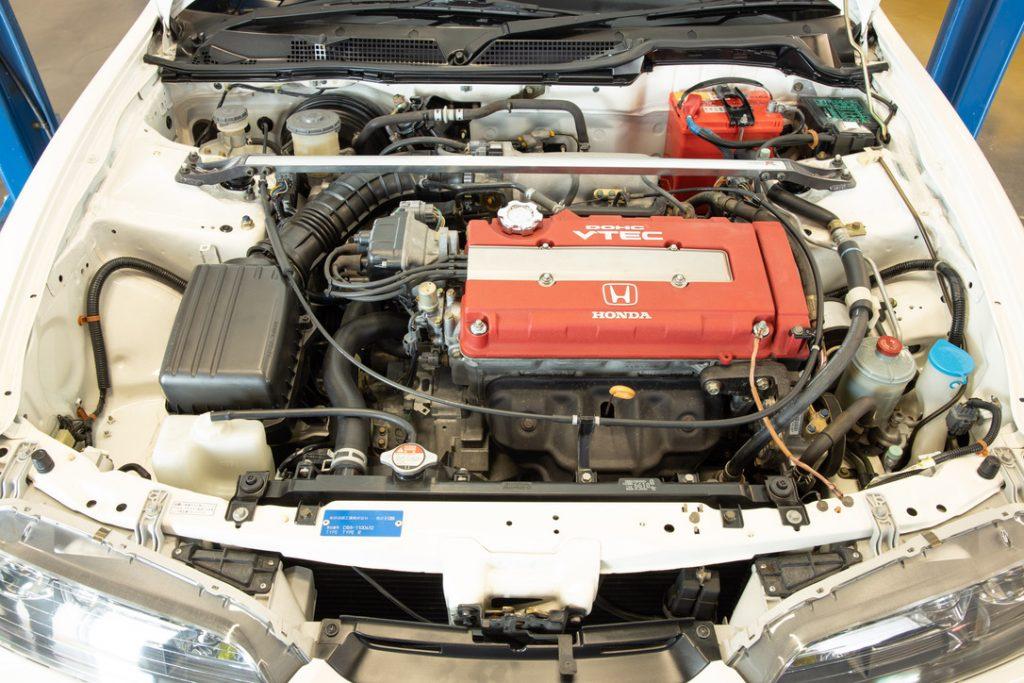 The B18C engine in the 1995 Honda Integra Type R sedan (DB8)