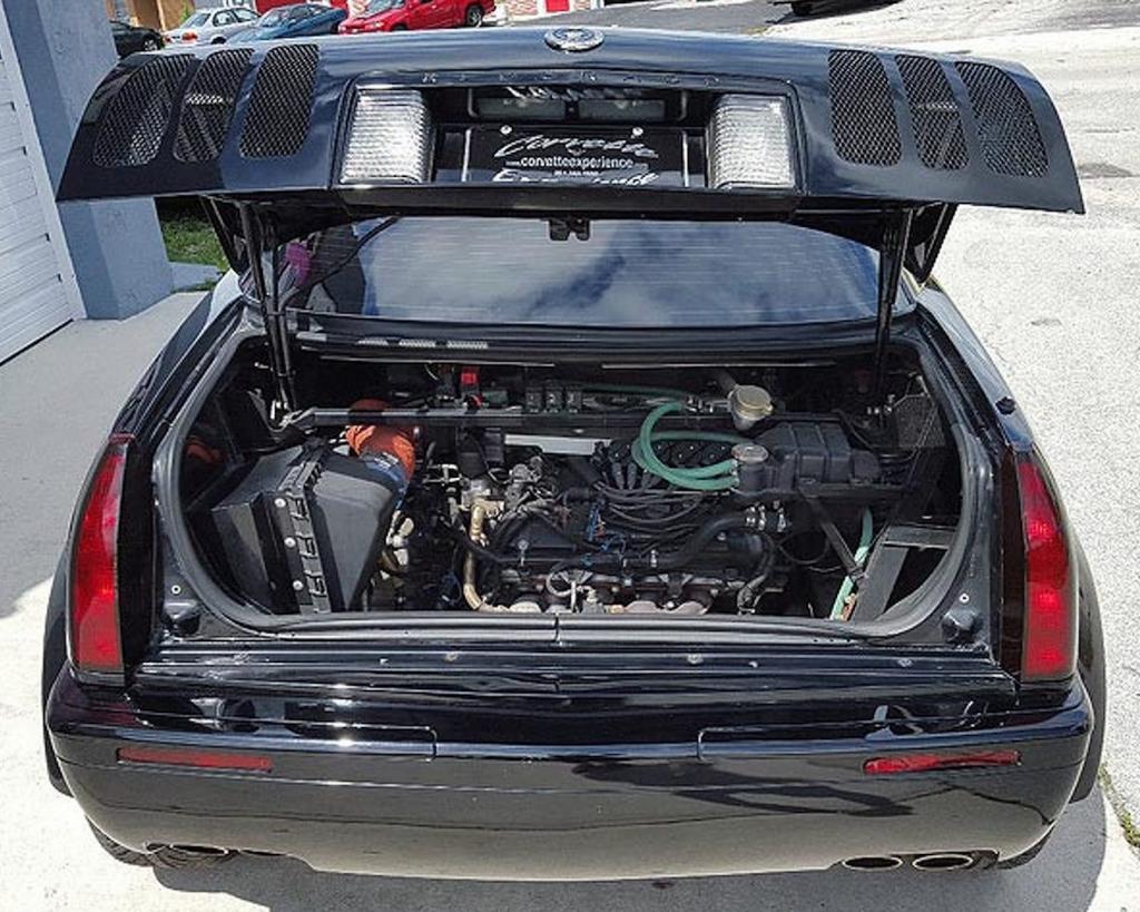 2000 Mosler TwinStar Eldorado rear engine view