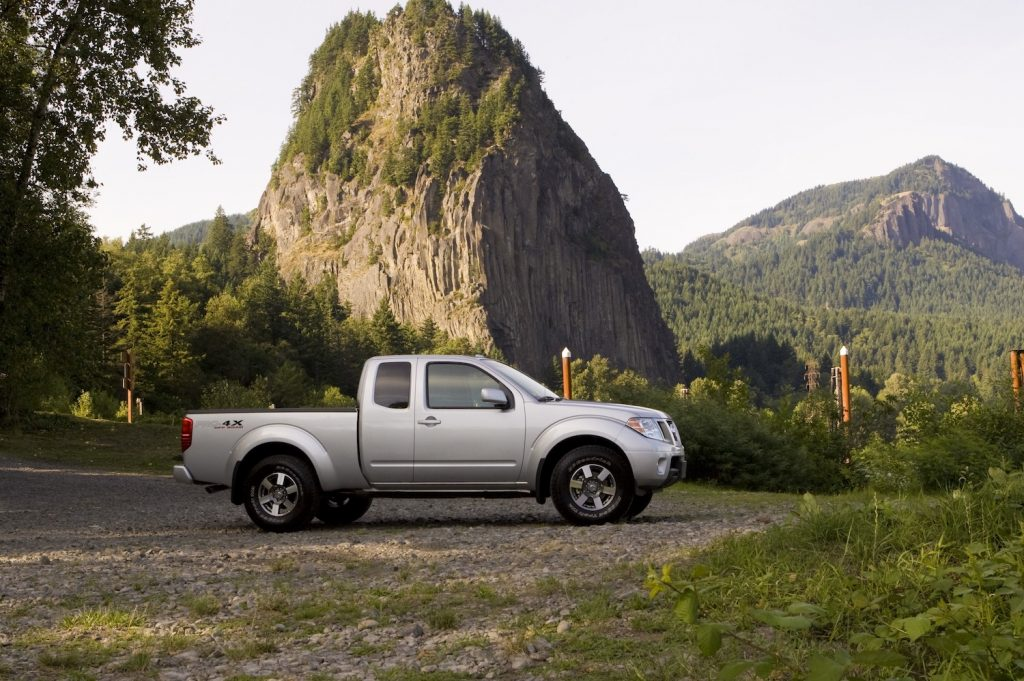 2011 Nissan Frontier parked in the wilderness