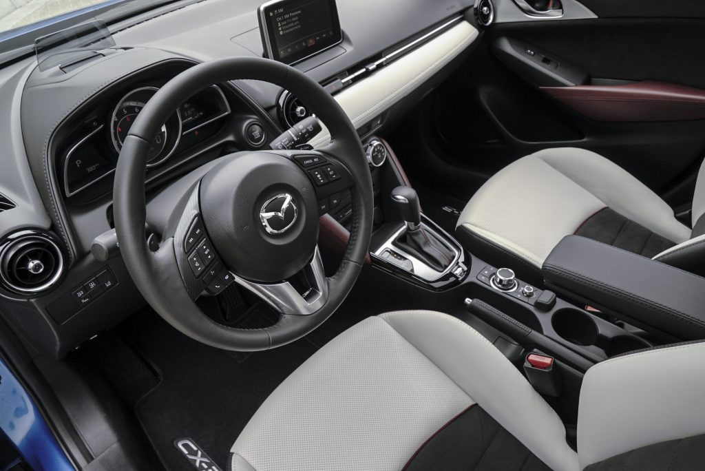 A look at the cramped interior of the 2017 Mazda CX-3