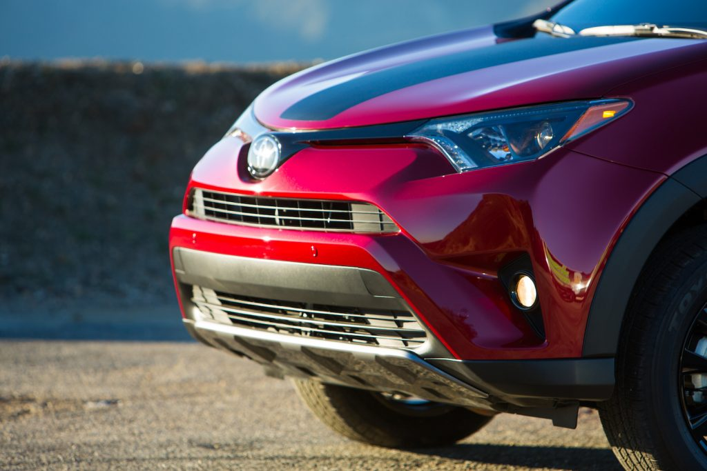 The front end of the 2018 Toyota RAV4.