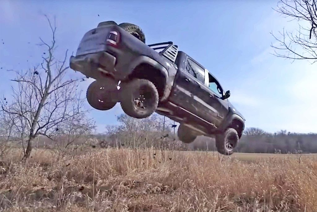 2020 RAM TRX Youtube jump posted by Street Speed 717 via YouTube