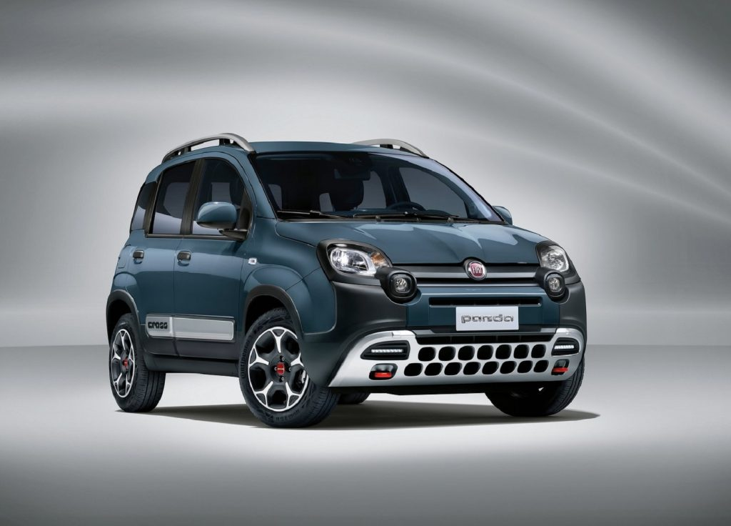 A dark-blue 2021 Fiat Panda Cross