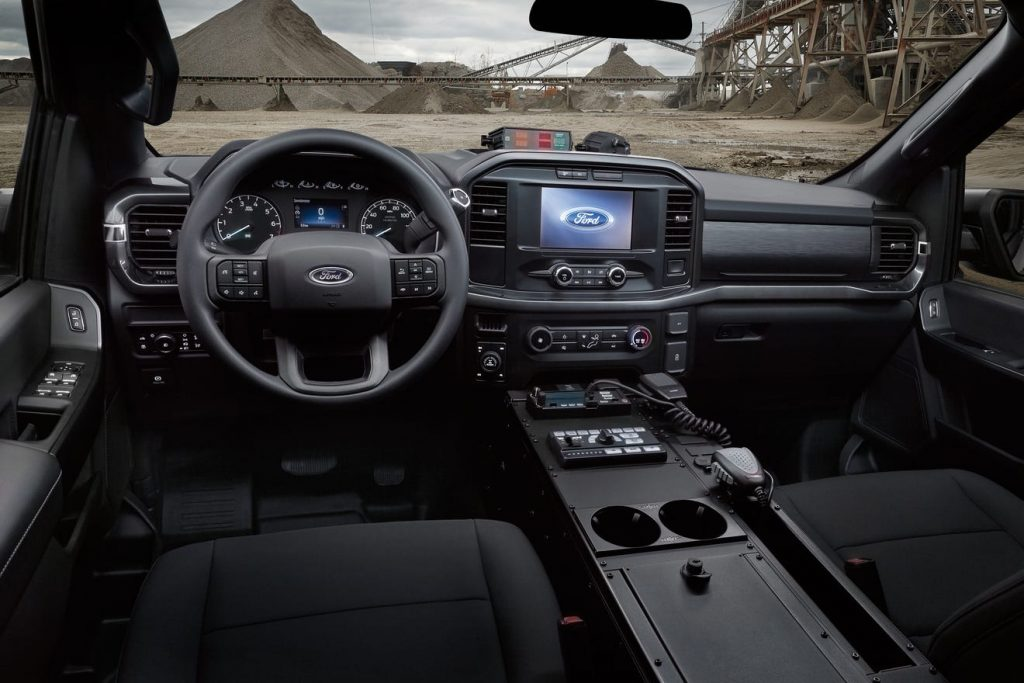 2021 Ford F-150 Police Pursuit interior