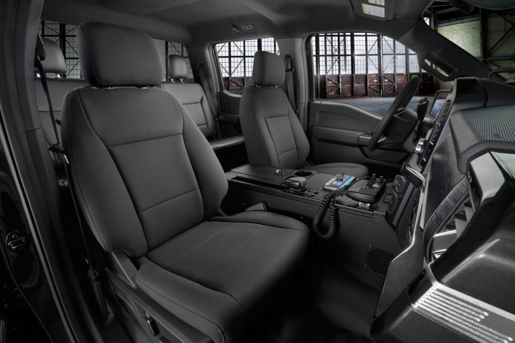 2021 Ford F-150 Police Pursuit seats
