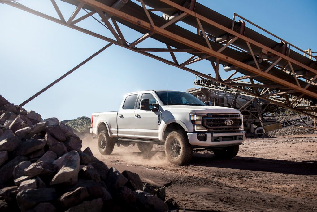 2021 Ford F-250 parked