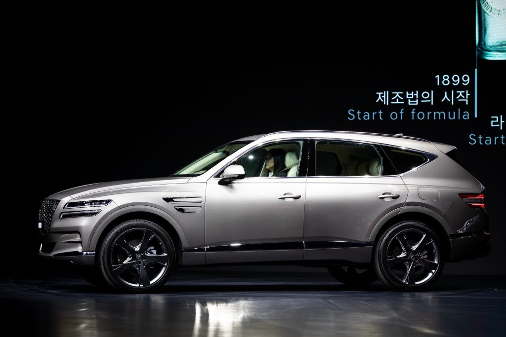 Hyundai Motor's Luxury Brand Genesis Releases First SUV the same model Tiger Woods recently crashed