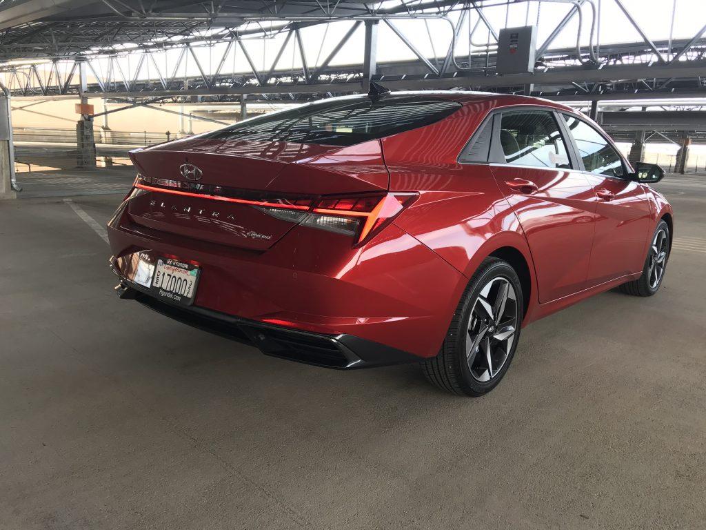 2021 Hyundai Elantra Limited rear shot