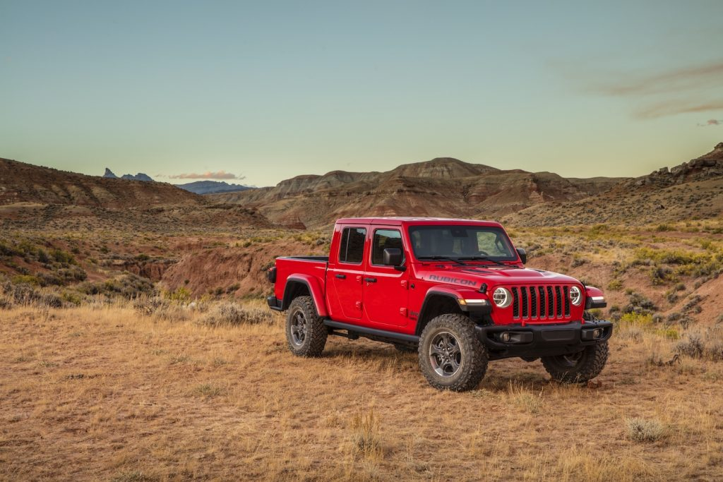2021 Jeep® Gladiator Rubicon parked in the wild