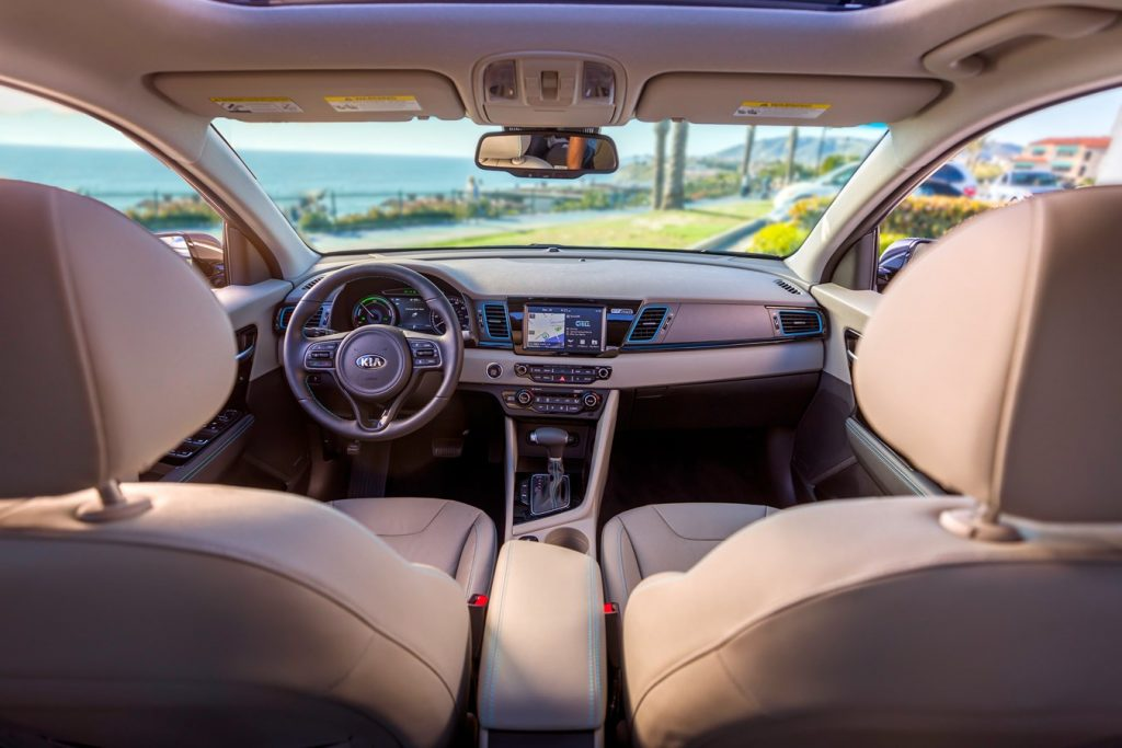 Beige interior of the 2021 Kia Niro  PHEV