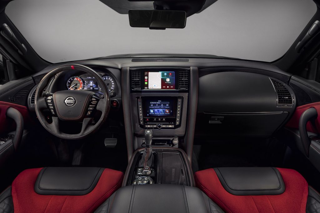 An image of the interior of the 2021 Nissan Patrol NIsmo.