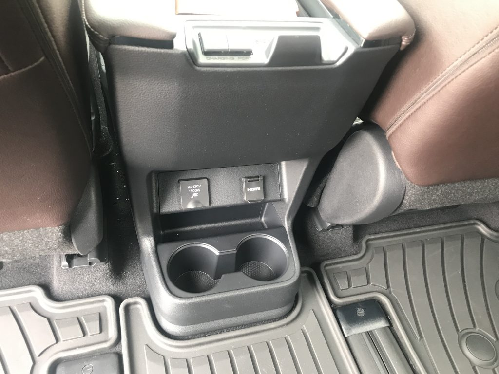 2021 Toyota Sienna second-row console area