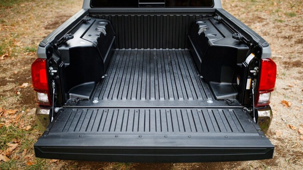 2021 Toyota Tacoma Trail Edition new bed storage