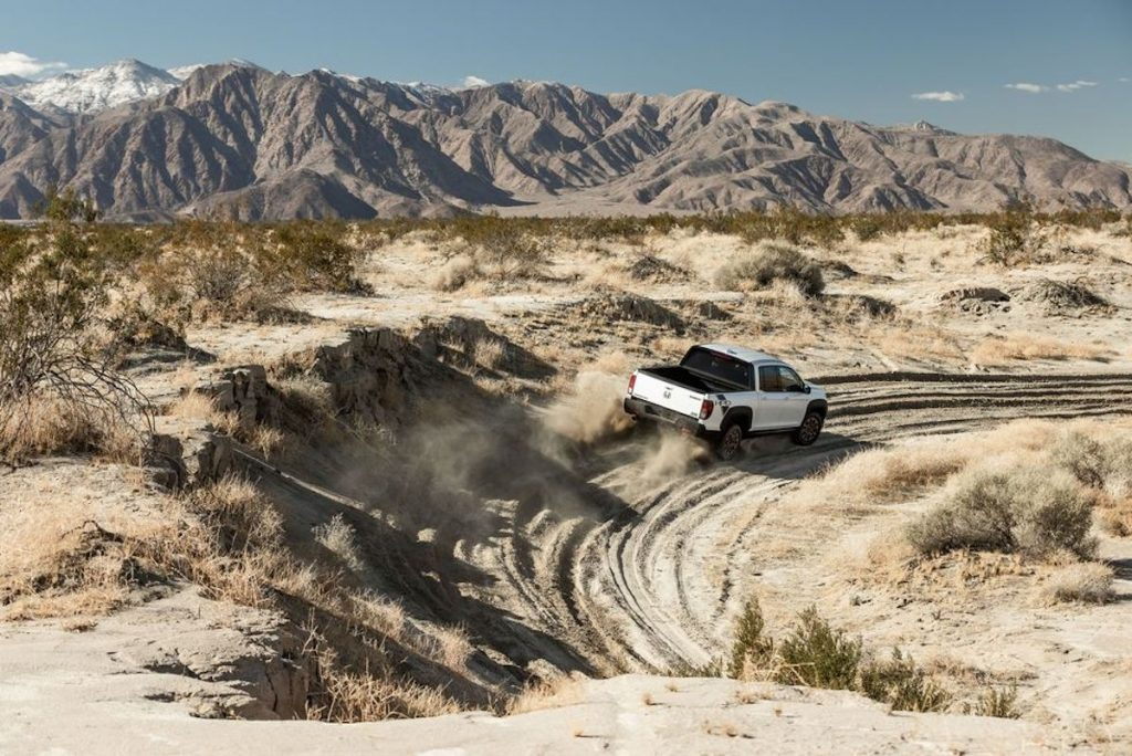 2021 Honda Ridgeline HPD in the sand