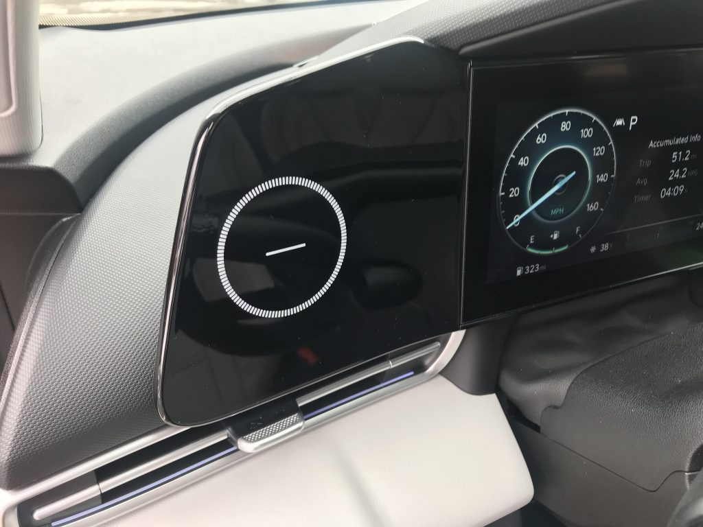 The random panel on the 2021 Hyundai Elantra