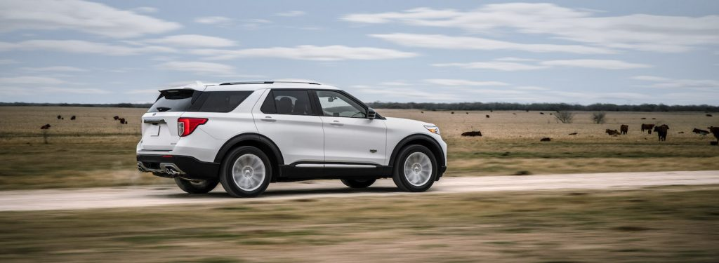 2021 Ford Explorer King Ranch Edition driving