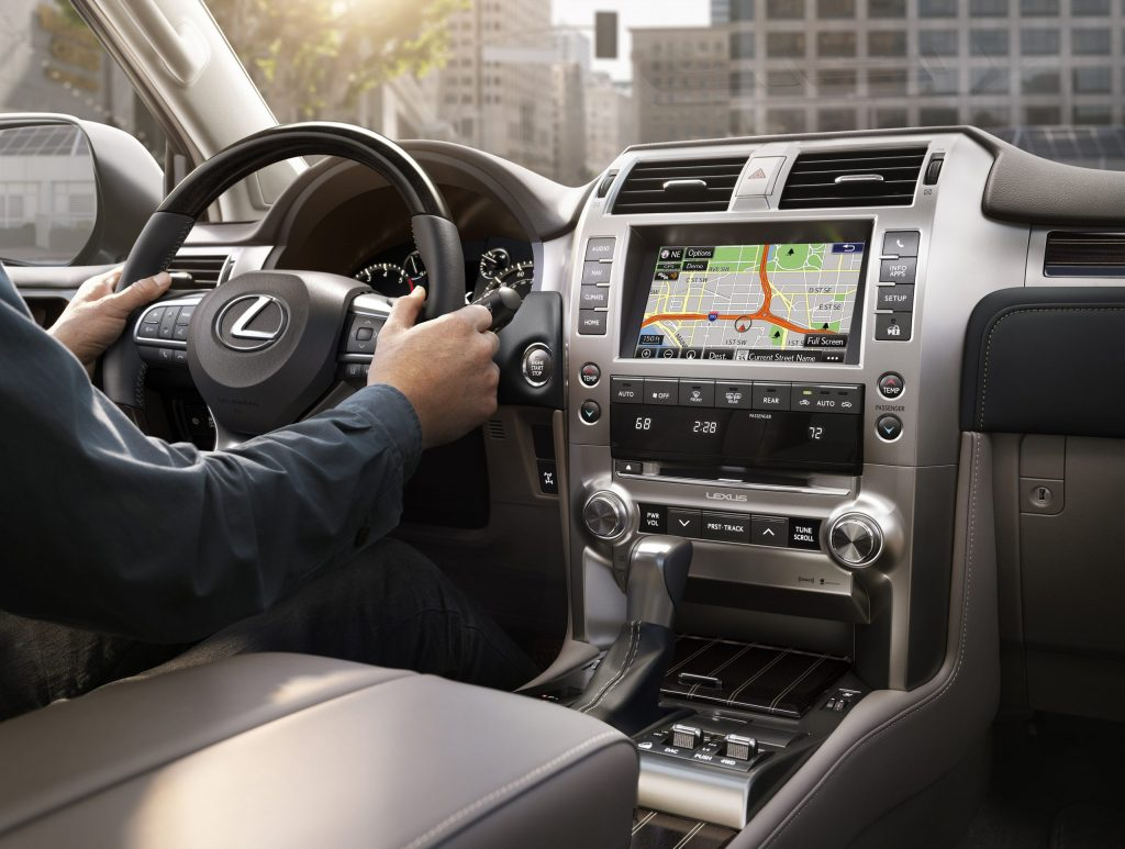 a shot from the 2021 Lexus GX 460 front seat