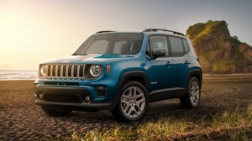 2021 Jeep Renegade Islander Edition parked in sand