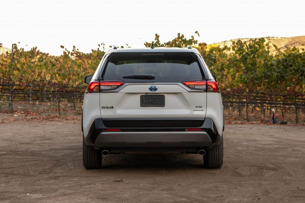 2021 Toyota RAV4 Hybrid rear shot