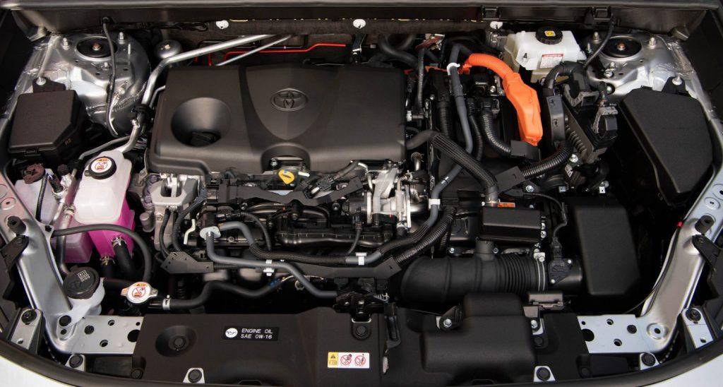 2021 Toyota RAV4 Hybrid engine shot