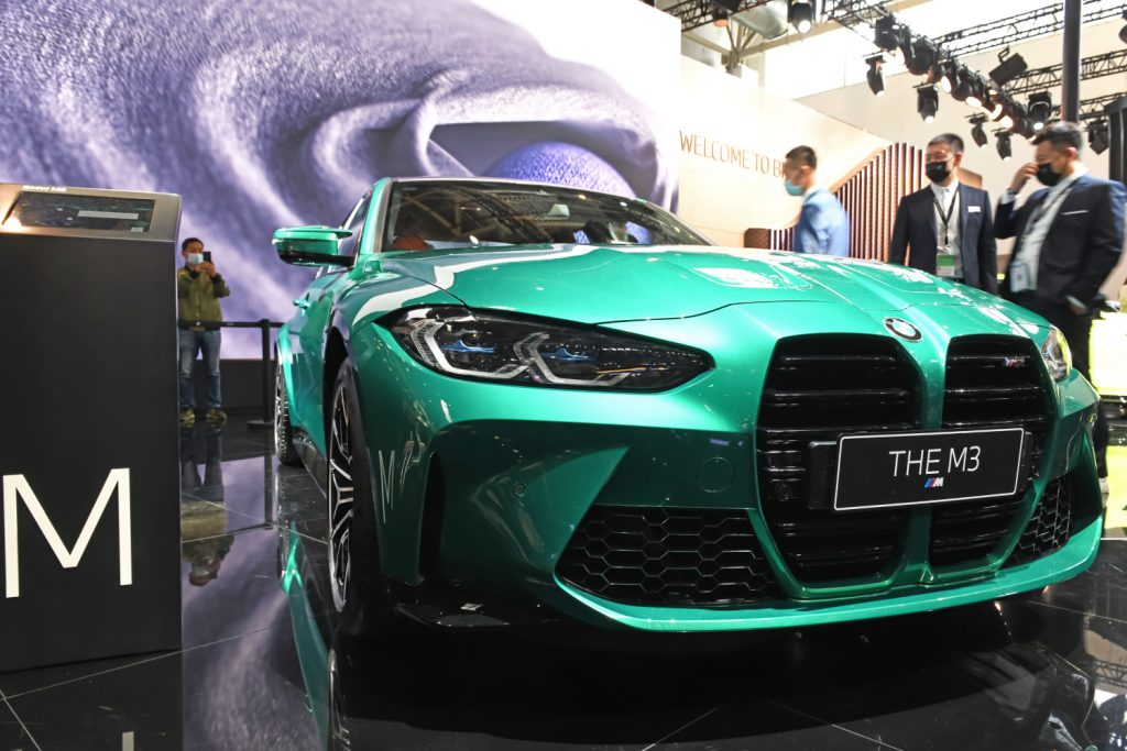 A new 2021 BMW M3 in Isle of Man Green