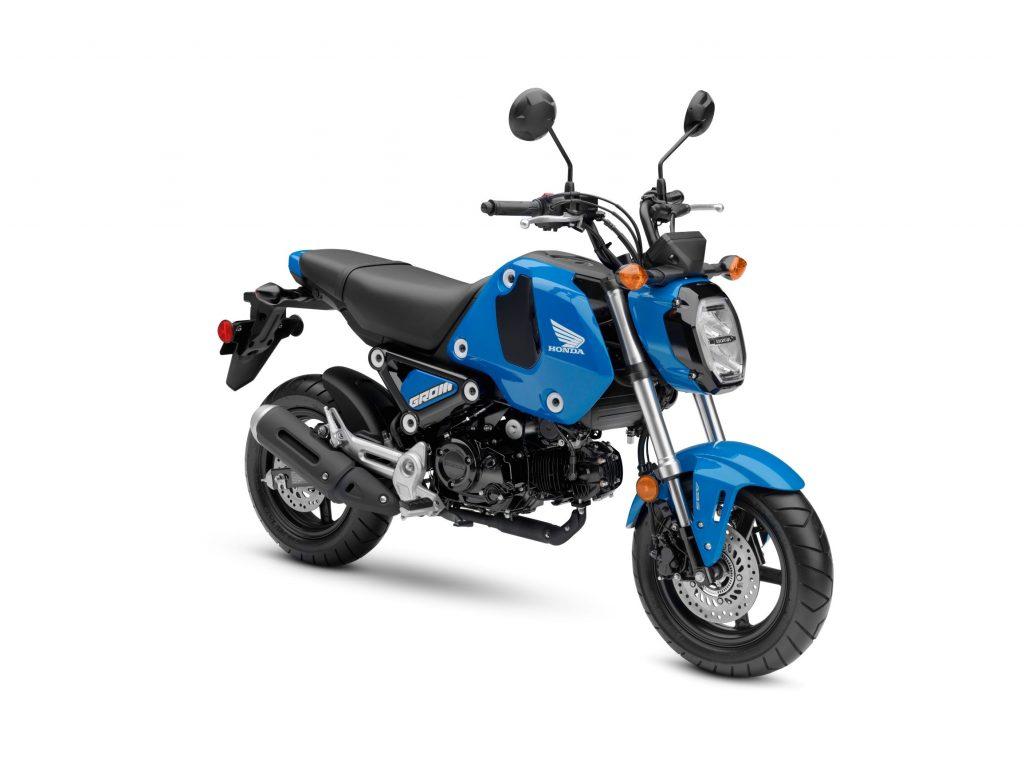 A blue 2022 Honda Grom ABS