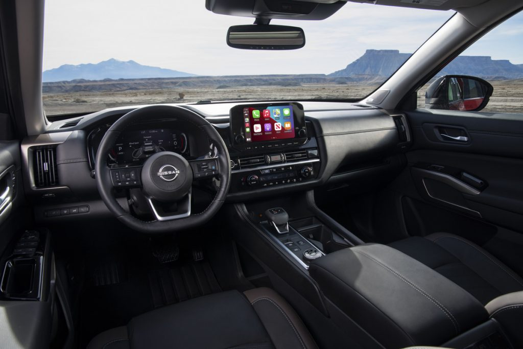 The interior of the 2022 Nissan Pathfinder