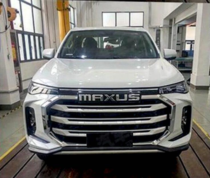 2022 SAIC Maxus pickup truck front view in white