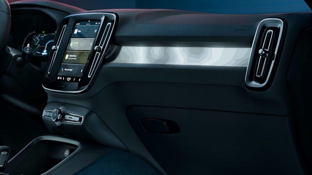2022 Volvo C4 Recharge interior
