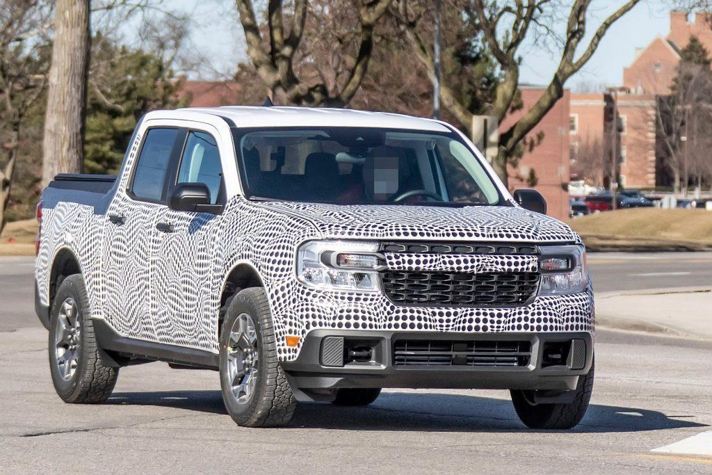 A spy shot of the 2022 Ford Maverick
