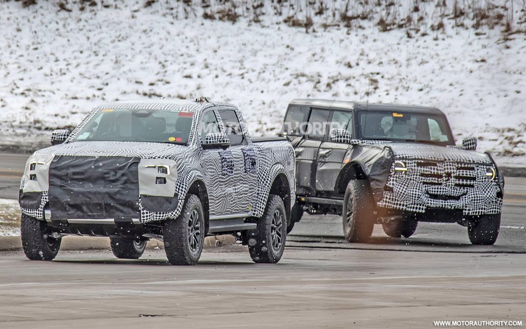 2022 Ford Ranger Raptor and Ford Bronco Warthog Spy Shots