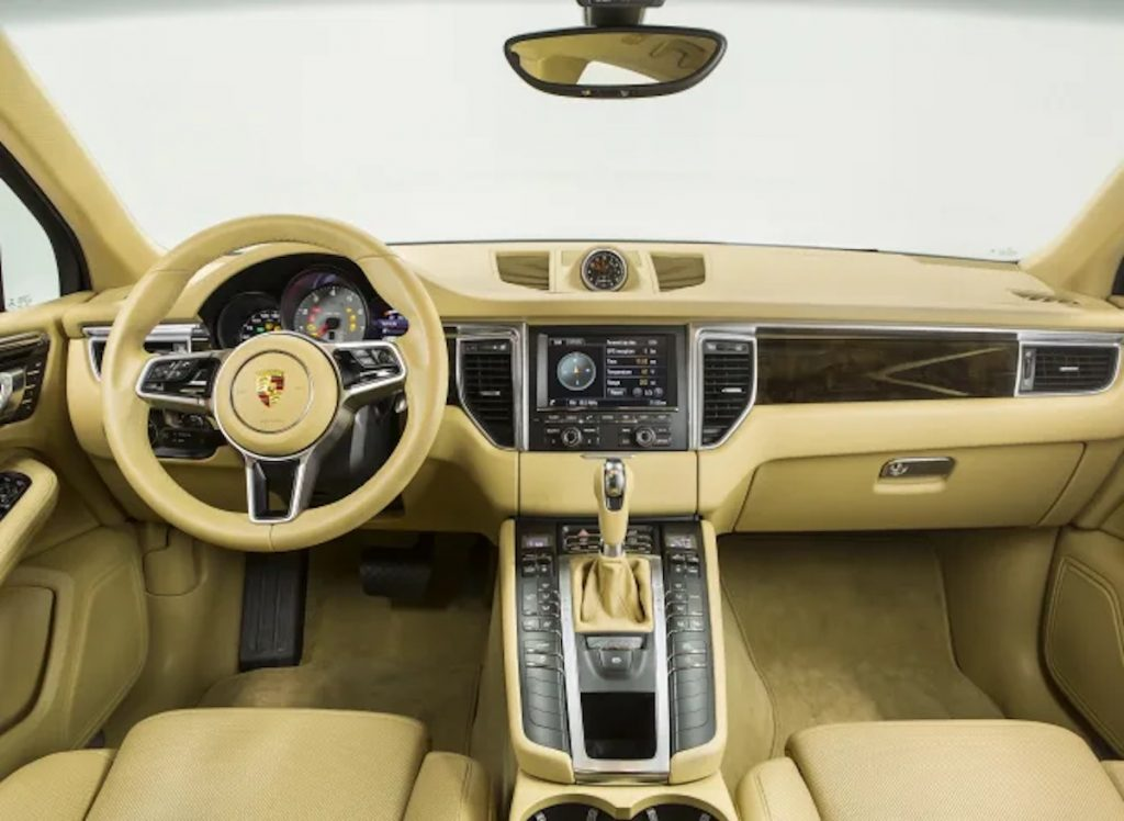 2021 Porsche Macan S interior in light tan is part of why Consumer Reports name it one of the most satisfying SUVs