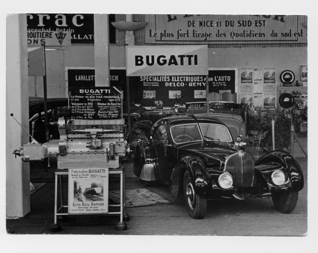 An image of a Bugatti Type 57 SC parked outside.