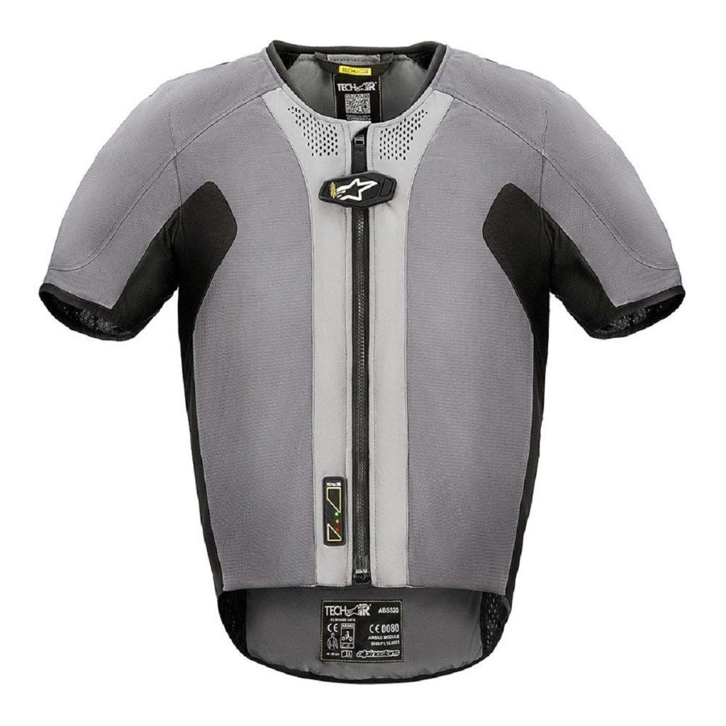A gray Alpinestars Tech-Air 5 airbag vest
