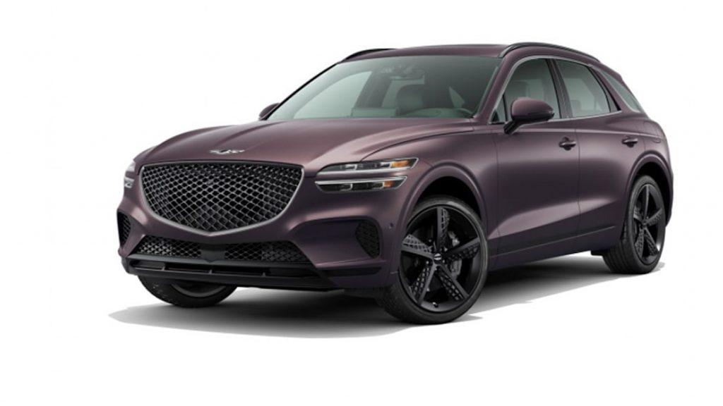 2022 Genesis GV70 in new shade of Purple