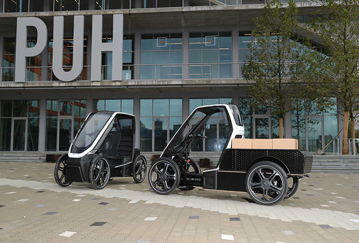 Bio-Hybrid delivery vehicle and Duo passenger vehicle