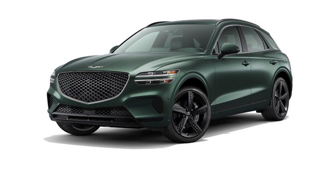 2022 Genesis GV70 in green by Hyundai